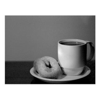 Kaffee u. Schaumgummiringe Postkarte