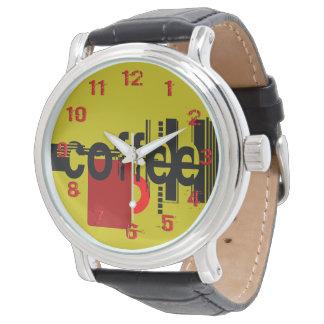 Kaffee-unbedeutende grafische Kunst nummeriert Armbanduhr