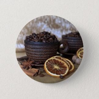 Kaffee und Gewürze Runder Button 5,1 Cm