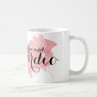 Kaffee und Herz Tasse