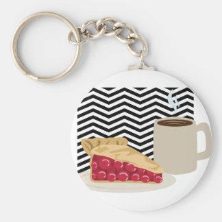 Kaffee-und Kirschtorte Schlüsselanhänger