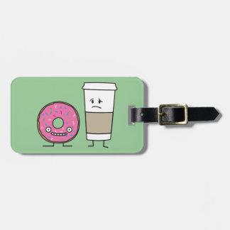 Kaffee und Krapfen Gepäckanhänger