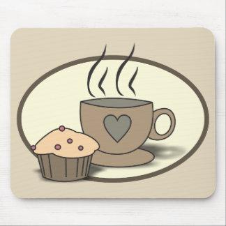 Kaffee und Muffin Mousepad für Kaffee-Liebhaber
