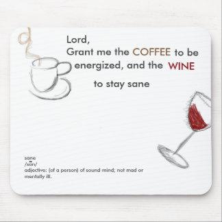 Kaffee und Wein Mauspad