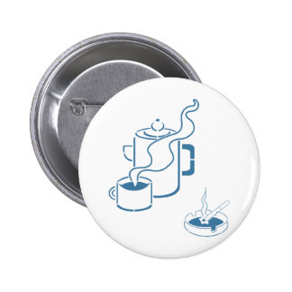 Kaffee und Zigaretten-Frühstück Anstecknadel