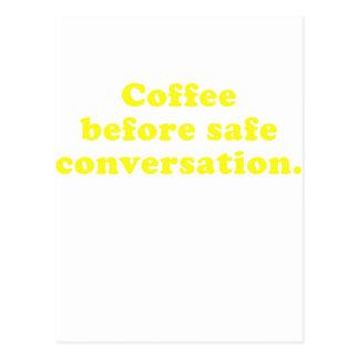 Kaffee vor sicherem Gespräch Postkarte