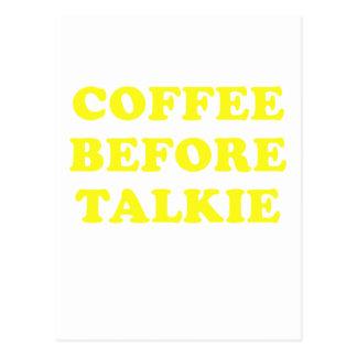 Kaffee vor Talkie Postkarten