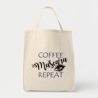 Kaffee-Wimperntuschen-Wiederholung Einkaufstasche