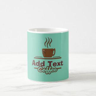 Kaffee-Zeichen, addieren Namen Kaffeetasse