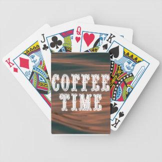 Kaffee-Zeit Bicycle Spielkarten
