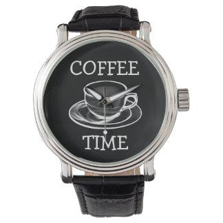 Kaffee-Zeit - dunkles Gesicht Armbanduhr