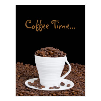 Kaffee-Zeit-Postkarte Postkarte