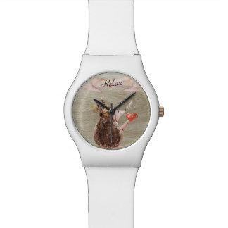 Kaffee-Zeit-Stachelschwein Armbanduhr