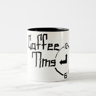 Kaffee-Zeit-Tasse Zweifarbige Tasse