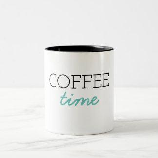 Kaffee-Zeit Zweifarbige Tasse