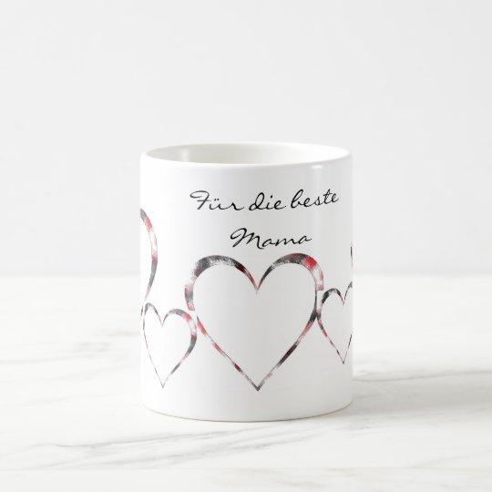 Kaffeebecher beste Mutter Herzbecher Kaffeetasse