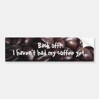 Kaffeebohne-Autoaufkleber
