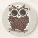 Kaffeebohne-Eule Bierdeckel
