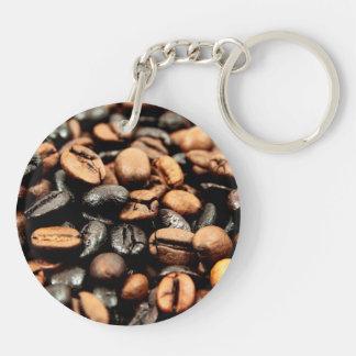Kaffeebohne-Fotografie Schlüsselanhänger