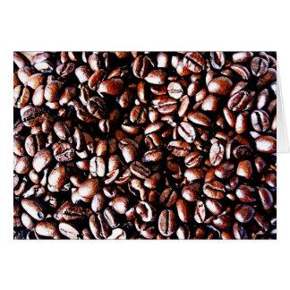 Kaffeebohne-Muster - dunkler Braten Karte