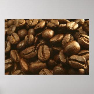 Kaffeebohne-Plakat-Kunst