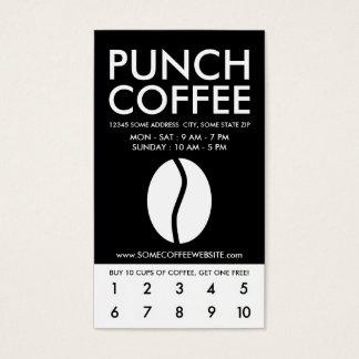 Kaffeebohne-Unschärfedurchschlagskupon Visitenkarte