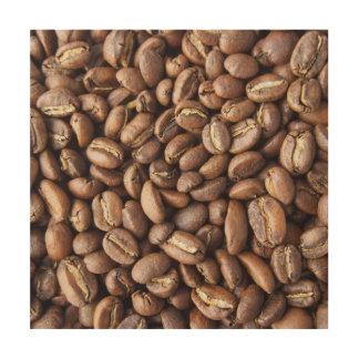 Kaffeebohnebeschaffenheit Holzdruck