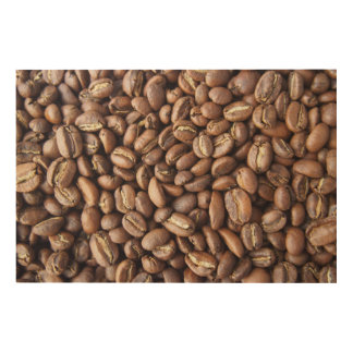 Kaffeebohnebeschaffenheit Holzwanddeko