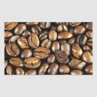 Kaffeebohnen Rechteckiger Aufkleber