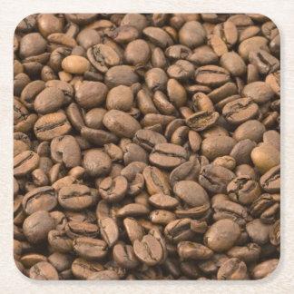 Kaffeebohnen Rechteckiger Pappuntersetzer