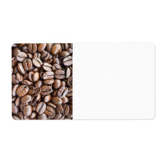 Kaffeebohnen Versandetiketten