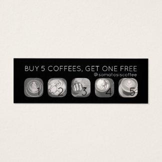 Kaffeegrammdurchschlag Mini Visitenkarte