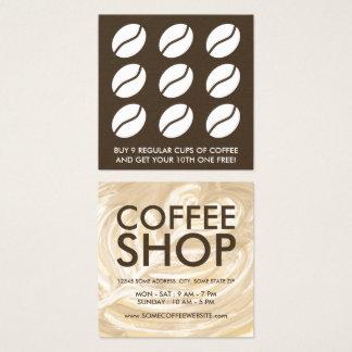 Kaffeeherzkunst Quadratische Visitenkarte