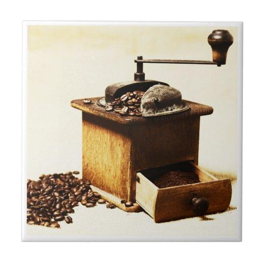 Kaffeemühle Bild auf Fliese