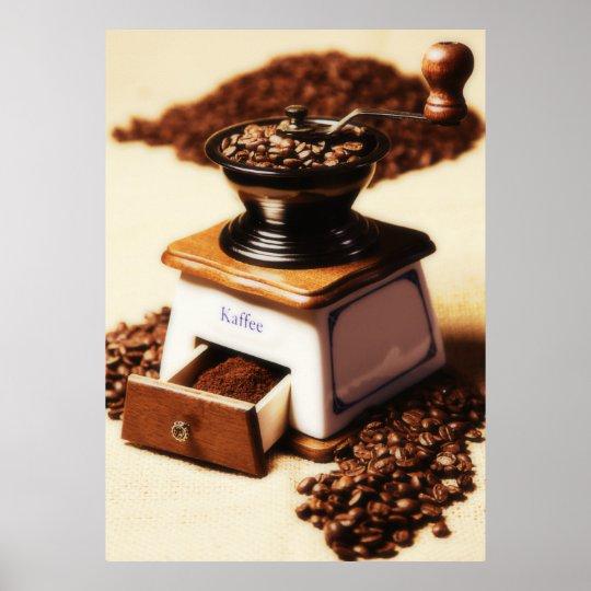 Kaffeemühle Küchenbild Poster