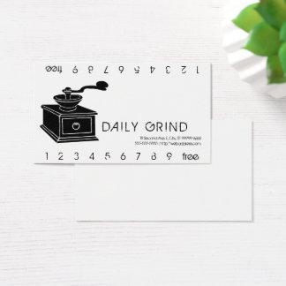 Kaffeemühle-Schleifen Punchard Visitenkarte