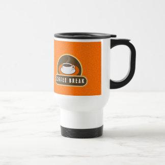 Kaffeepause-Schale Kaffee-orange Reise-Tassen