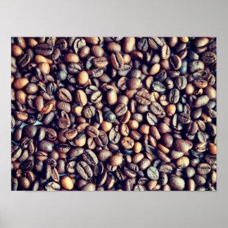 Kaffeephotographie. Küchendruck. Modernes Foto Poster