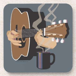 Kaffeestube-Gitarre (Schiefer) Untersetzer