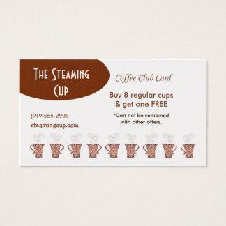 Kaffeestube-Lochkarte Visitenkarte