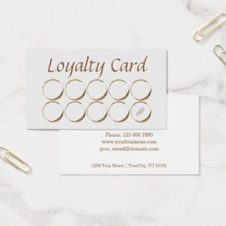 Kaffeestube-Loyalitäts-Karte - Kaffeefleck Visitenkarte