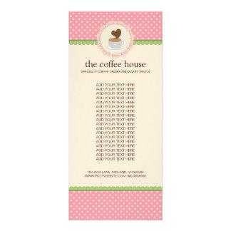 Kaffeestube-Produkt-Gestell-Karten Bedruckte Werbekarten