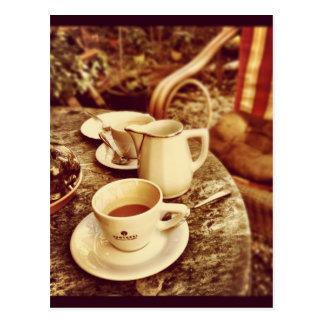 Kaffeestube-Tabelle Postkarte
