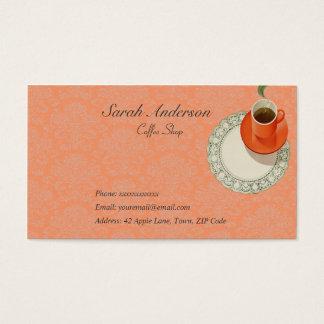 Kaffeestube-Visitenkarten Visitenkarte