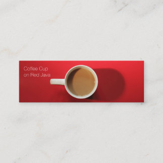 Coffee Cup on Red Background Mini