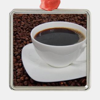 Kaffeetasse-Braten-Freude Silbernes Ornament