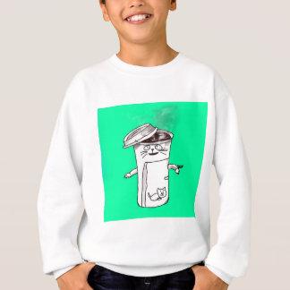 Kaffeetasse-Katze Sweatshirt