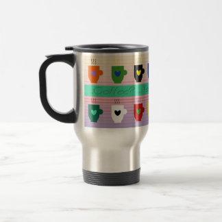 Kaffeetasse-Liebe-warmer Cartoon-romantisches Reisebecher