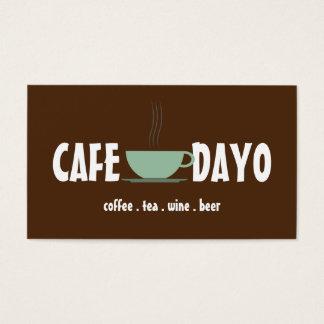 Kaffeetasse-Tee-Geschäfts-Wein-Bier-Café Visitenkarte