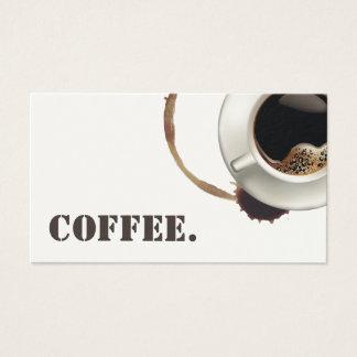 Kaffeetasse u. Flecke der Visitenkarte